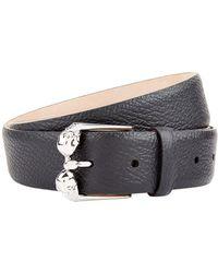 Alexander McQueen - Double Skull Leather Belt - Lyst