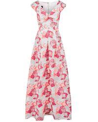 Talbot Runhof - Floral Cap Sleeve Gown - Lyst