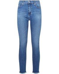 AG Jeans - The Farrah Skinny Ankle Frayed Hem Jeans - Lyst