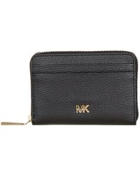 76e40335af74 Lyst - MICHAEL Michael Kors Money Pieces Slim Leather Card Case in Black