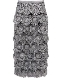 Burberry - Silicone Lace Pencil Skirt - Lyst