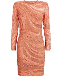 Elie Saab - Sequin Wave Mini Dress - Lyst