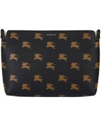 Burberry - Medium Equestrian Knight Leather Clutch - Lyst