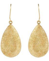 Carolina Bucci - Yellow Gold Florentine Finish Pear Drop Earrings - Lyst
