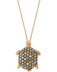 Bee Goddess - Turtle Diamond Necklace - Lyst