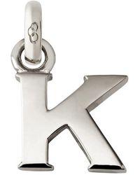 Links of London - Sterling Silver Letter K Charm - Lyst