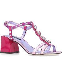 Dolce & Gabbana - Keira Block-heel Sandals - Lyst