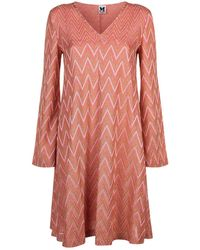 M Missoni - Zig Zag Mini Dress - Lyst