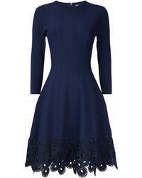 Lela Rose - Guipure Lace Hem Dress - Lyst