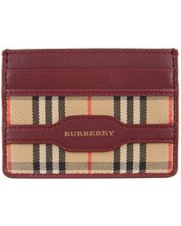 Burberry - Haymarket Check Card Holder - Lyst