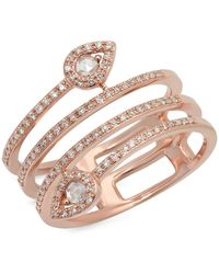 Kenza Lee - Spiral Diamond Ring - Lyst