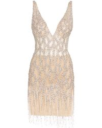 Jovani - Embellished Fringe Dress - Lyst
