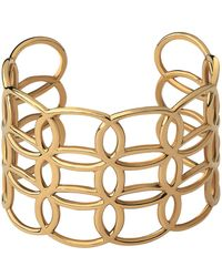 Links of London - Yellow Gold Vermeil Ovals Cuff - Lyst