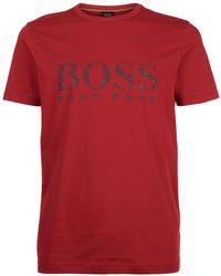 BOSS Green - Faded Logo T-shirt - Lyst