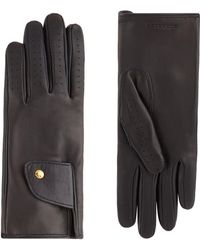 Burberry - Leather Cashmere-lined Gloves - Lyst