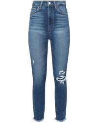 PAIGE - Margot Distressed Super-skinny Jeans - Lyst