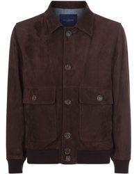 Paul & Shark - Aqua Leather Jacket - Lyst