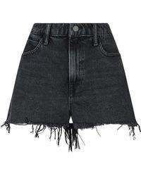 Alexander Wang - Frayed Bite Shorts - Lyst
