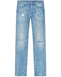Marcelo Burlon - Embroidered Slim Fit Jeans - Lyst