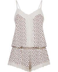 Eberjey - Foxtail Printed Pyjama Playsuit - Lyst