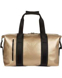 Armani Jeans - Embossed Logo Weekend Bag - Lyst