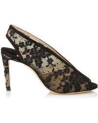 Jimmy Choo - Shar 85 Lace Sandals - Lyst