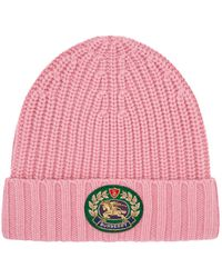 Burberry - Knitted Logo Crest Hat - Lyst