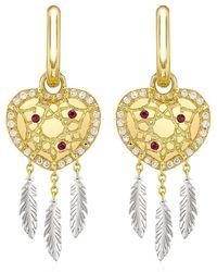 Theo Fennell - Dreamcatcher 'art Earrings - Lyst