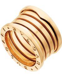 BVLGARI - Yellow Gold B.zero1 20th Anniversary Ring - Lyst