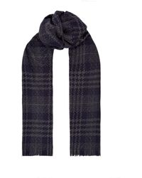Harrods - Houndstooth Check Cashmere Scarf - Lyst