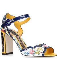 Dolce & Gabbana - Majolica Leopard Sandals - Lyst