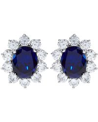 Carat* - 2ct Fancy Oval Sapphire Stud Earrings - Lyst
