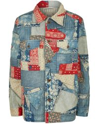 Polo Ralph Lauren - Libby Patchwork Denim Jacket - Lyst