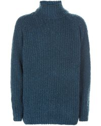 Pal Zileri - Cashmere-silk Chunky Roll Neck Sweater - Lyst