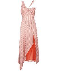Jonathan Simkhai - Striped Cut Out Maxi Dress - Lyst
