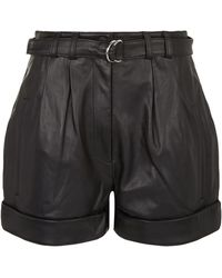 Robert Rodriguez - Leather High Waisted Shorts - Lyst