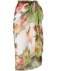 Maryan Mehlhorn - Rose Printed Sarong - Lyst