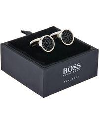 BOSS - Embellished Cufflinks - Lyst