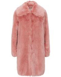 MICHAEL Michael Kors - Faux Fur Coat - Lyst