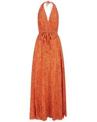 Lazul | Melba Silk Halterneck Maxi Dress | Lyst