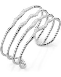 Monica Vinader - Riva Hero Wave Diamond Cuff - Lyst
