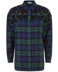 Sandro - Embellished Western Check Shirt - Lyst