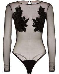Ermanno Scervino - Floral Appliqu Bodysuit - Lyst