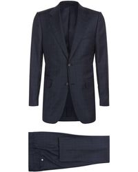 Dunhill - Wool Check Printed Two-piece Suit - Lyst