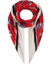 Claudie Pierlot - Floral Silk Scarf - Lyst