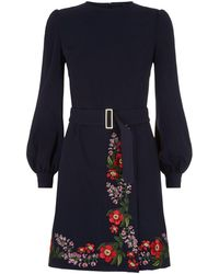 Ted Baker - Siliia Kirstenbosch Embroidered Wrap Dress - Lyst