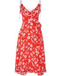 Athena Procopiou - Floral Wrap Dress - Lyst