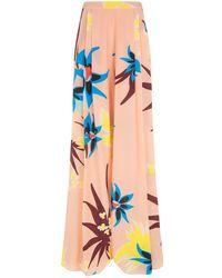 Delpozo - Floral Wide Leg Trousers - Lyst