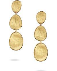 Marco Bicego - Yellow Gold Lunaria Three-drop Earrings - Lyst