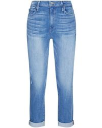PAIGE - Jimmy Jimmy High Rise Crop Jeans - Lyst